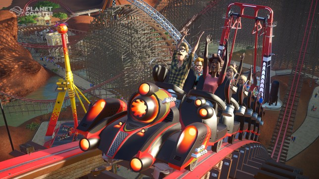 Planet Coaster (PC) - at least they're smiling at the moment