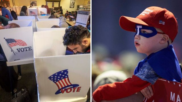 In pictures: The last day of the US election campaign