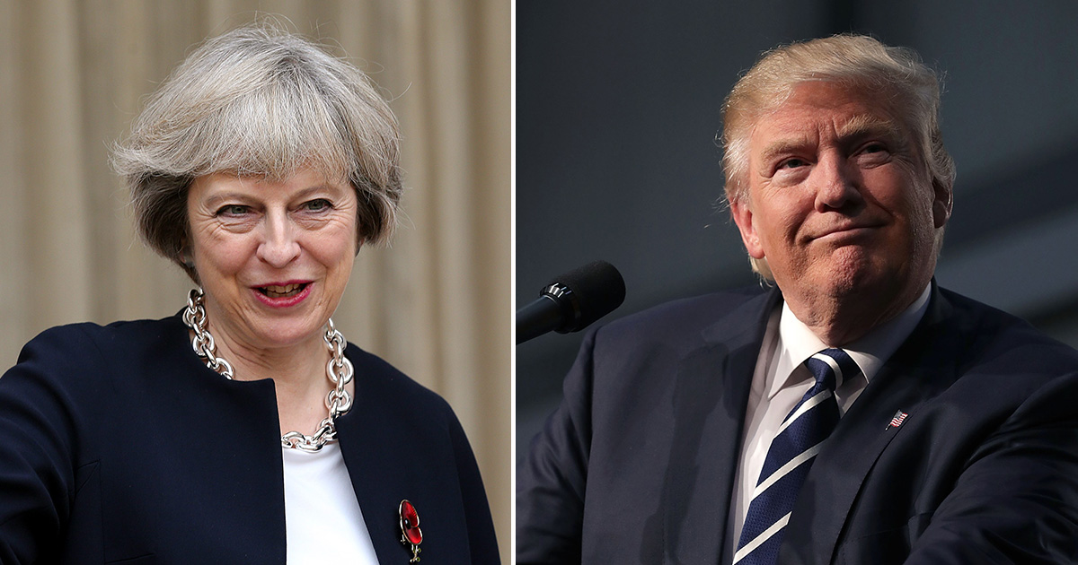 Theresa May wished Donald Trump 'good luck' and people were not happy