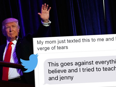The mums of America are texting their daughters to console them over the US election result