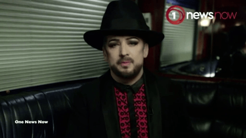 Boy George walks out of TV interview after being quizzed about conviction for falsely imprisoning escort