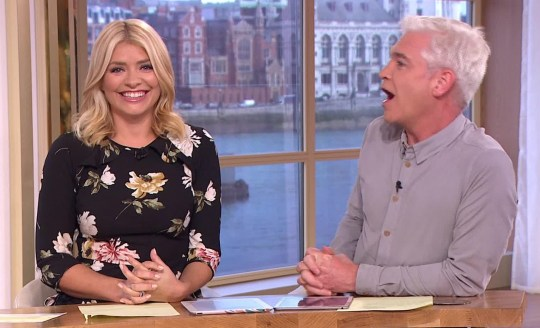 Phillip Schofield has told Holly Willoughby he doesn't polish his dusty Christmas tree baubles (Picture: ITV)
