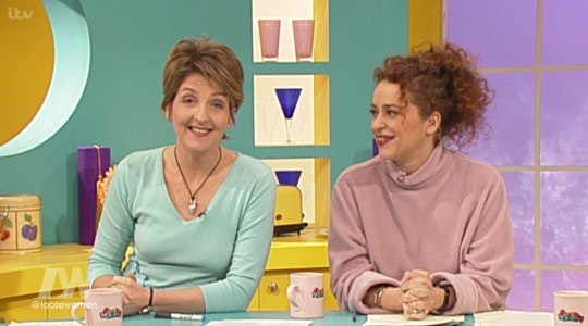 Loose Women shared a cheeky clip featuring the panelists from 16 years ago (Picture: ITV)