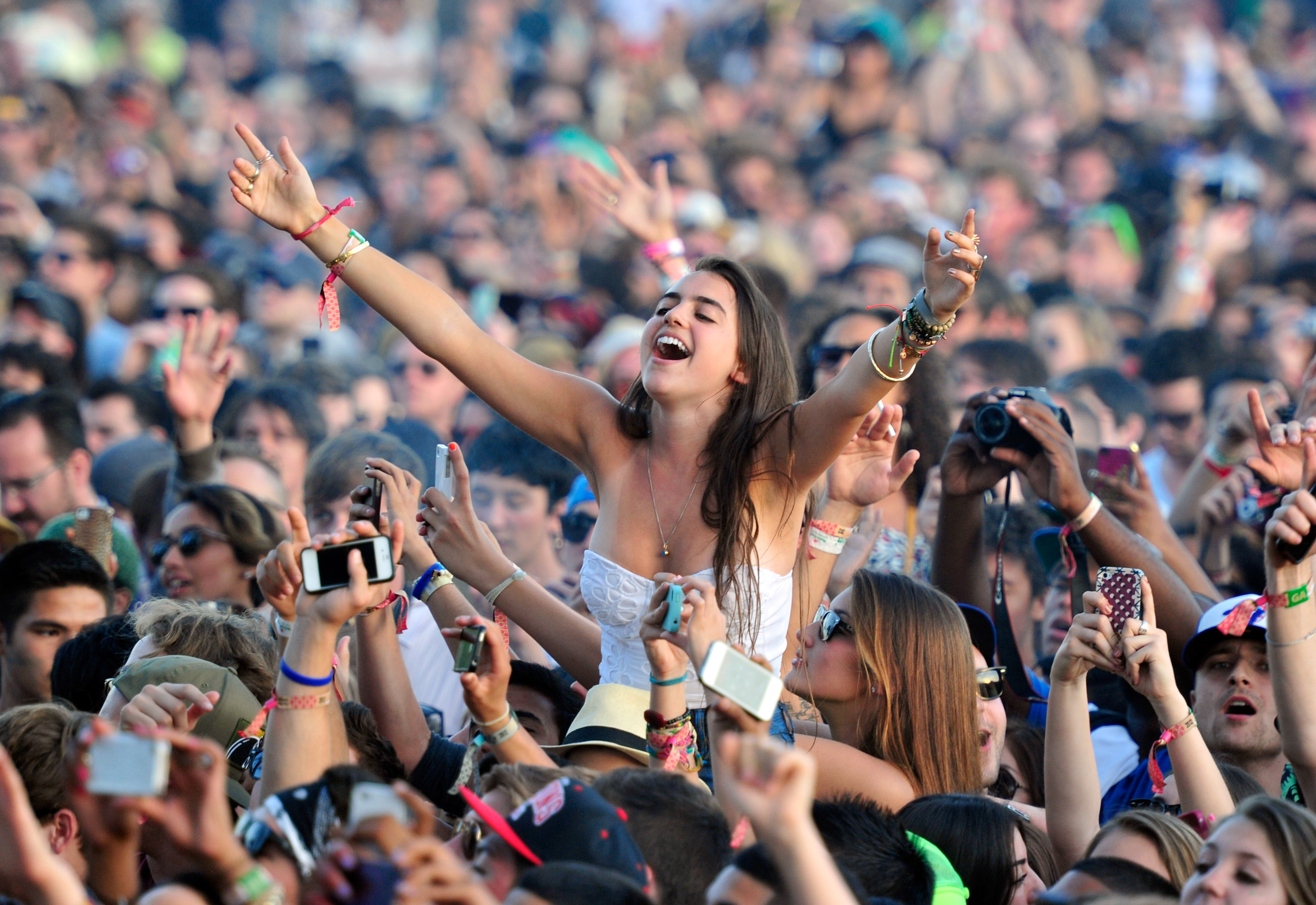 A general view of the crowd during Day 3 of the 2012 Coachella Valley Music & Arts Festival