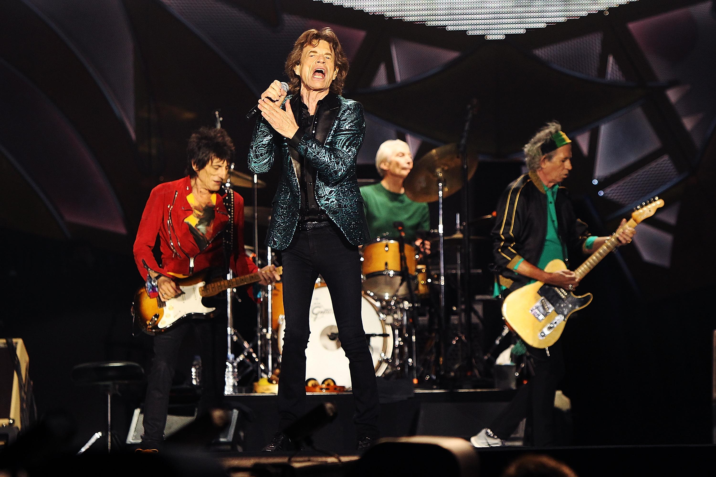 ADELAIDE, AUSTRALIA - OCTOBER 25: The Rolling Stones perform live at Adelaide Oval on October 25, 2014 in Adelaide, Australia. (Photo by Morne de Klerk/Getty Images)