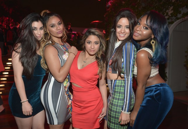 "WEST HOLLYWOOD, CA - NOVEMBER 13: (L-R) Singers Lauren Jauregui, Camila Cabello, Ally Brooke Hernandez, Dinah Jane Hansen, and Normani Hamilton of Fifth Harmony attend Latina Magazine's ""30 Under 30"" Party at Mondrian Los Angeles on November 13, 2014 in West Hollywood, California. (Photo by Charley Gallay/Getty Images for Latina Magazine)"