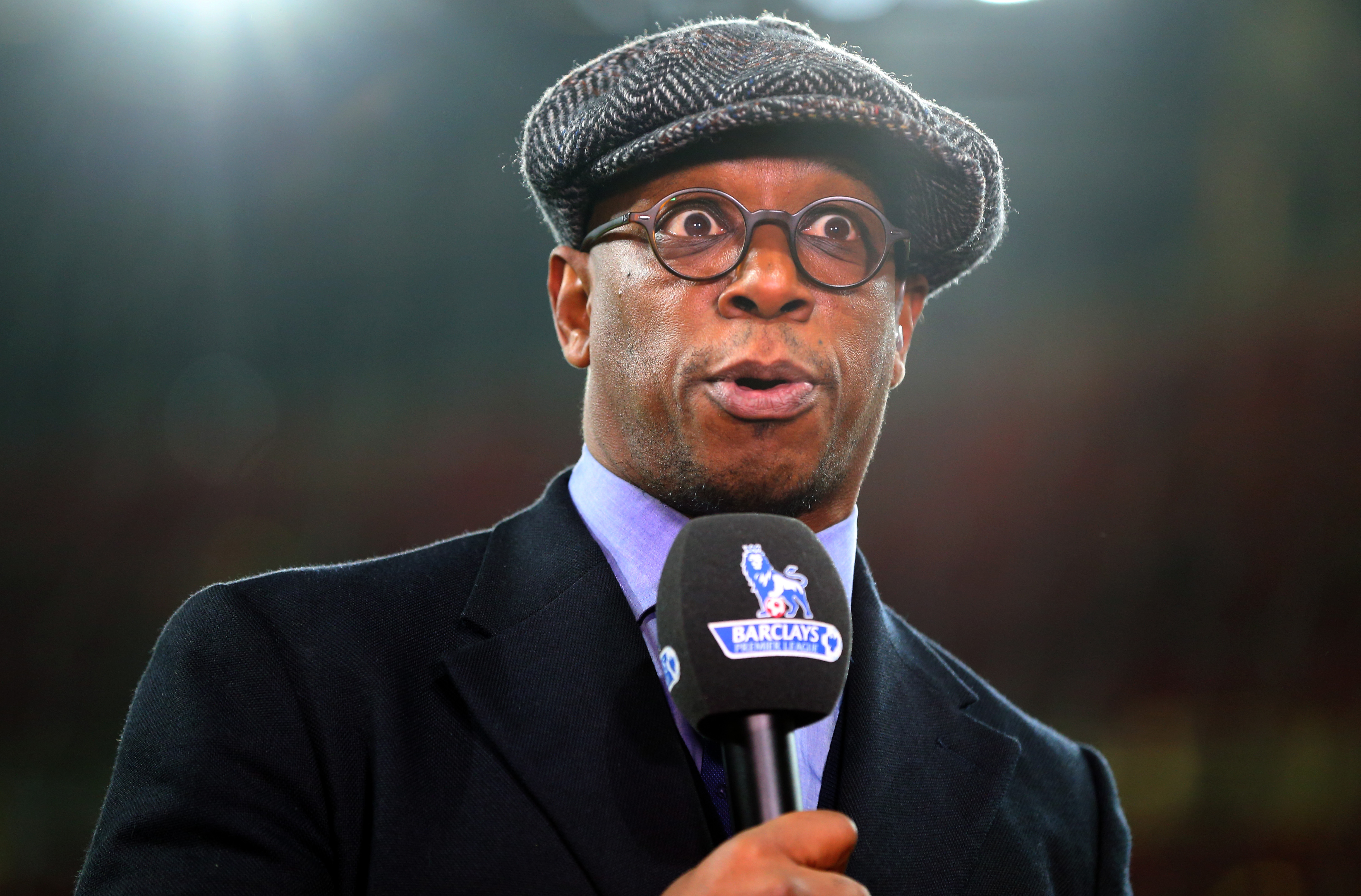LONDON, ENGLAND - DECEMBER 21: Former Arsenal player Ian Wright before the Barclays Premier League match between Arsenal and Manchester City at the Emirates Stadium on December 21, 2015 in London, England. (Photo by Catherine Ivill - AMA/Getty Images)