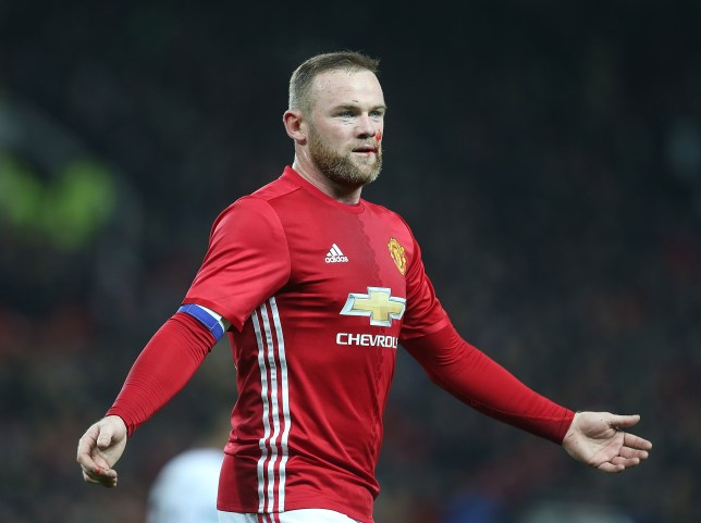MANCHESTER, ENGLAND - NOVEMBER 30: Wayne Rooney of Manchester United picks up a facial injury during the EFL Cup Quarter-Final match between Manchester United and West Ham United at Old Trafford on November 30, 2016 in Manchester, England. (Photo by Matthew Peters/Man Utd via Getty Images)