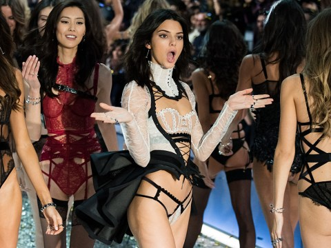 Kendall Jenner wore five different looks for the Victoria's Secret runway show