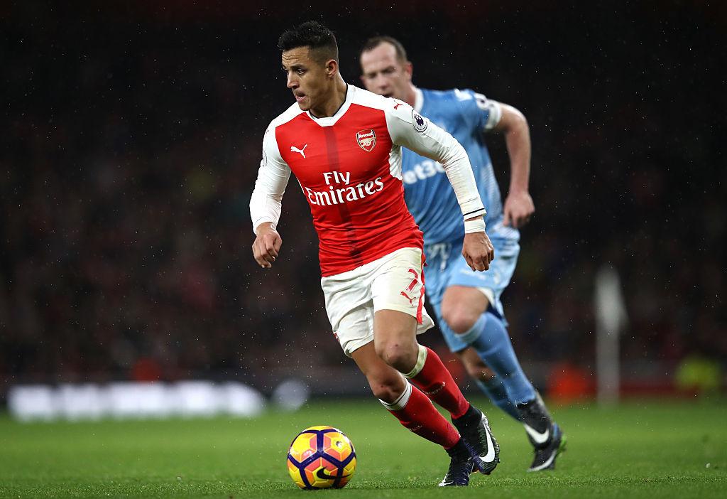 Stoke City's Charlie Adam escapes punishment for 'stamp' on Arsenal ace Alexis Sanchez