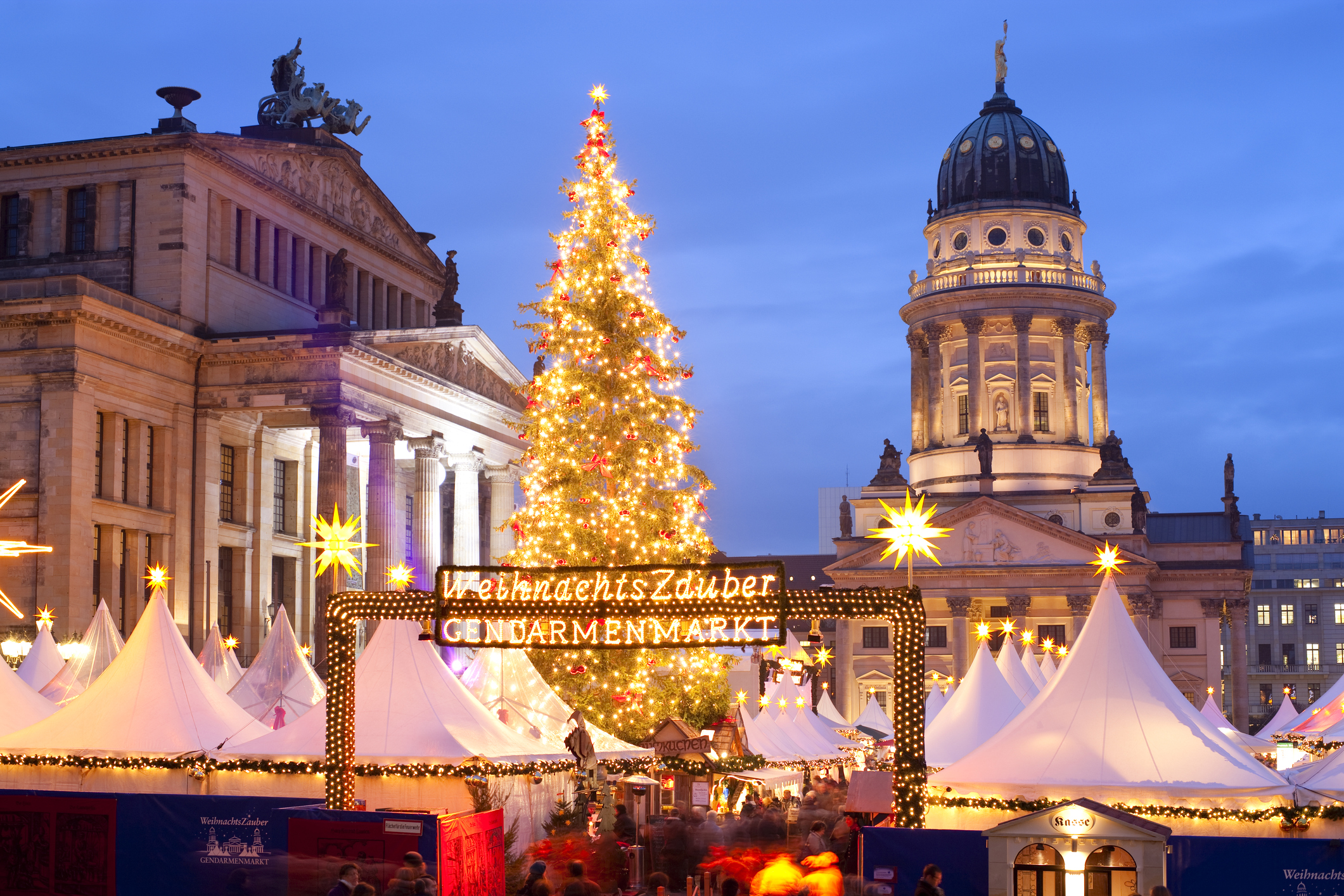 If the Gendarmenmarkt in Berlin can't get you in the festive spirit, nothing can (Picture: Getty)