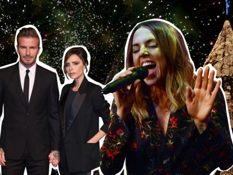 Victoria Beckham rejoined the Spice Girls for a quick rendition of 2 Become 1