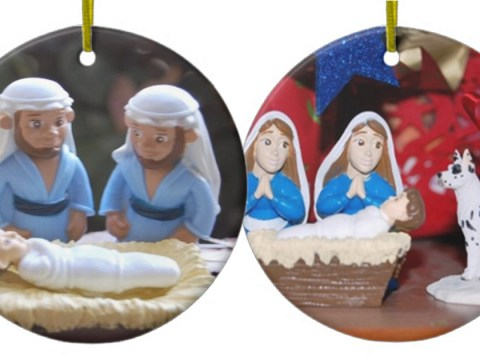 Same-sex nativity ornaments removed after Christian group complains