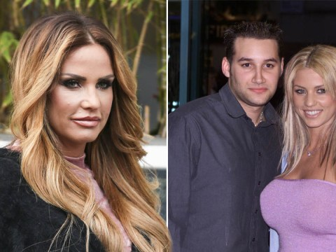 Katie Price gets topless and declares love for Dane Bowers before being 'tackled off stage' at paid gig