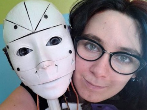 This woman is in love with a robot and wants to marry it