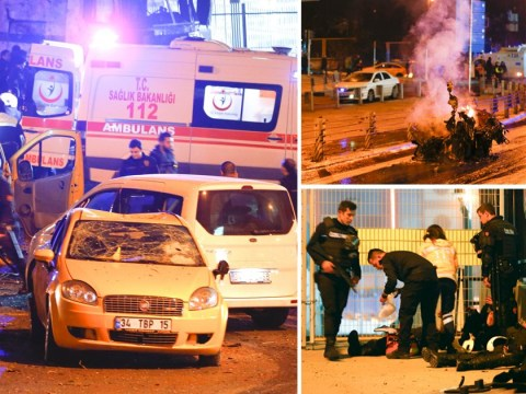 Massive explosions outside Istanbul stadium after car bomb attacks