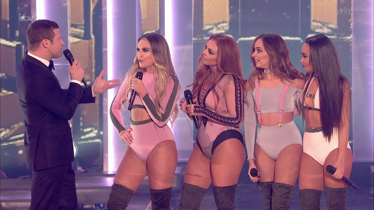 Little Mix perform during the final of 'The X Factor'. Broadcast on ITV1HD Featuring: Little Mix, Jade Thirlwall, Perrie Edwards, Leigh-Anne Pinnock, Jesy Nelson, Dermot O'Leary When: 11 Dec 2016 Credit: Supplied by WENN **WENN does not claim any ownership including but not limited to Copyright, License in attached material. Fees charged by WENN are for WENN's services only, do not, nor are they intended to, convey to the user any ownership of Copyright, License in material. By publishing this material you expressly agree to indemnify, to hold WENN, its directors, shareholders, employees harmless from any loss, claims, damages, demands, expenses (including legal fees), any causes of action, allegation against WENN arising out of, connected in any way with publication of the material.**