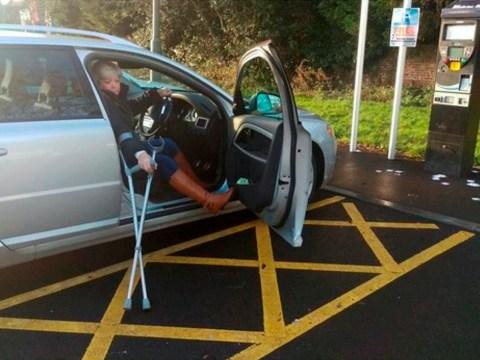 Shopper slapped with fine for using disabled bay – despite her broken leg