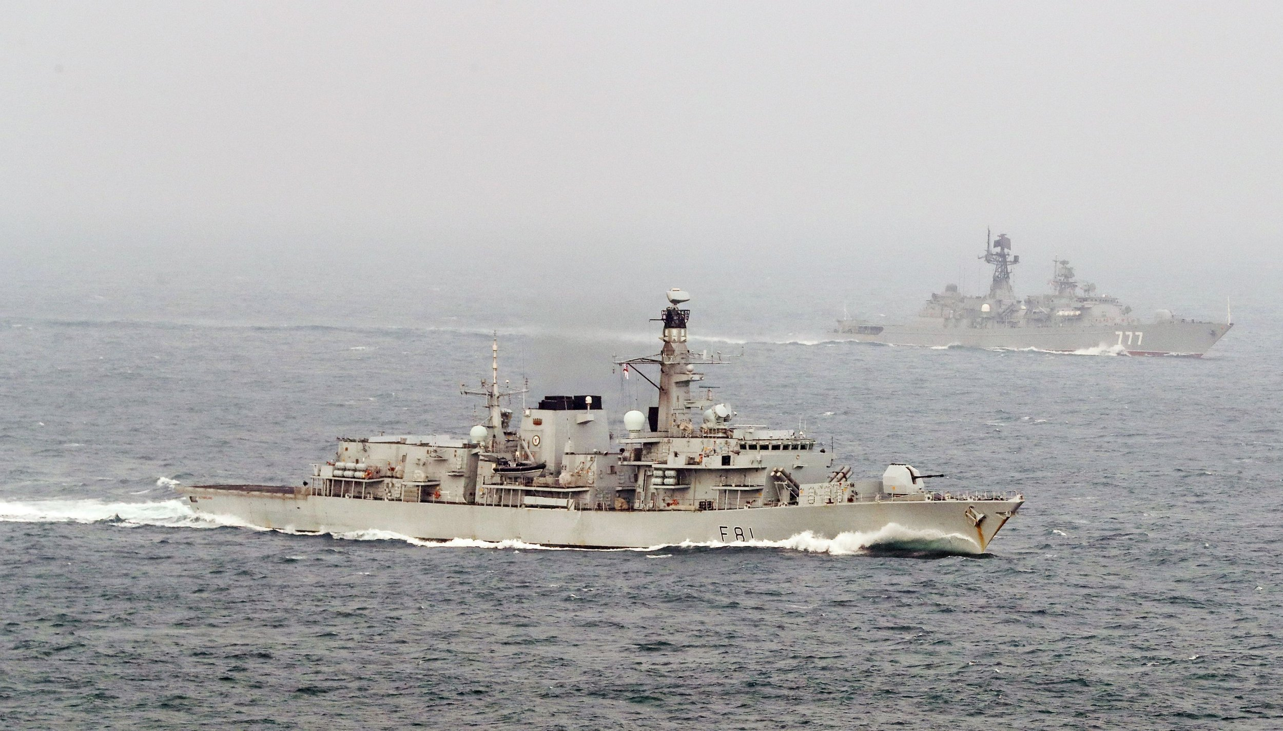 Russian warships back in English Channel for second time in a fortnight