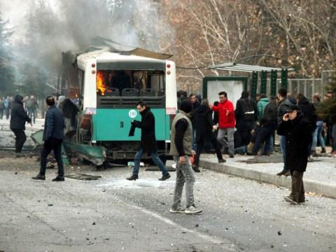 Thirteen soldiers killed in Turkey after ambush on their bus