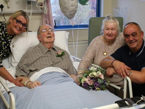 Terminally ill man, 79, marries sweetheart of six decades from his hospital bed