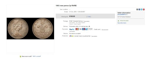 1983 New Pence 2p coin with tiny error could be worth