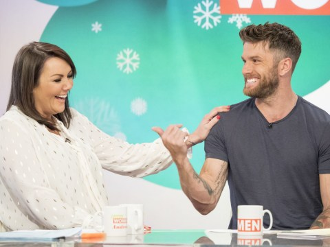 Martine McCutcheon gets the giggles as she flirts outrageously with Joel Dommett on Loose Women
