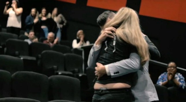 Screengrab from the Dougie Hird & Claire O'Grady proposal video. A romantic man has proposed to his girlfriend by creating a Hollywood-style film trailer. See NTI story NTIPROPOSE. Claire O'Grady, 32, was taken by surprise when her boyfriend Dougie Hird, 34, appeared in a trailer on a cinema screen in Hinckley, Leicestershire. The four-minute trailer showed Dougie running through Leicestershire countryside towards Claire - symbolising leaving behind his past to spend the future with her. He worked with a local film producer called Elliot Richards, over the past few months to create the video. Once the trailer ended, Dougie walked into an auditorium in Cineworld, Hinckley, and proposed to his girlfriend.