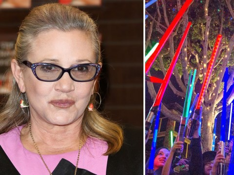 Touching Star Wars lightsaber vigils light up across the United States to mourn Carrie Fisher