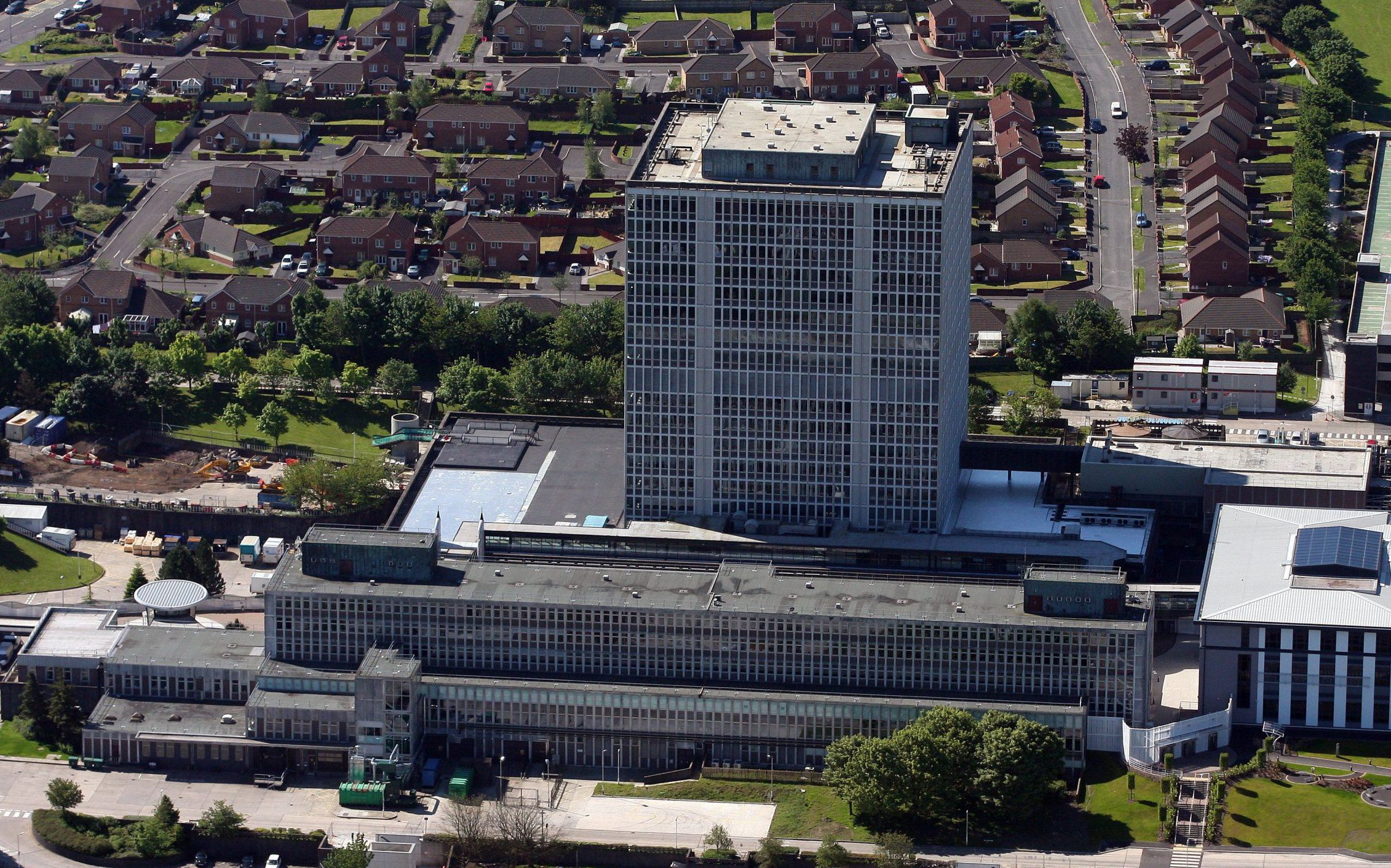 Mandatory Credit: Photo by REX/Shutterstock (1095615ax) Aerial view of DVLA Headquarters Driver and Vehicle Licensing Agency HQ in Morriston, Swansea, Wales, Britain Various