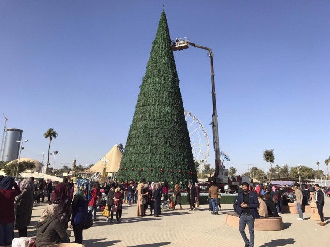 The 85ft tree looks pretty impressive (Picture: AP)
