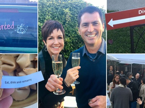 These parents celebrated splitting up with the most amazing divorce party