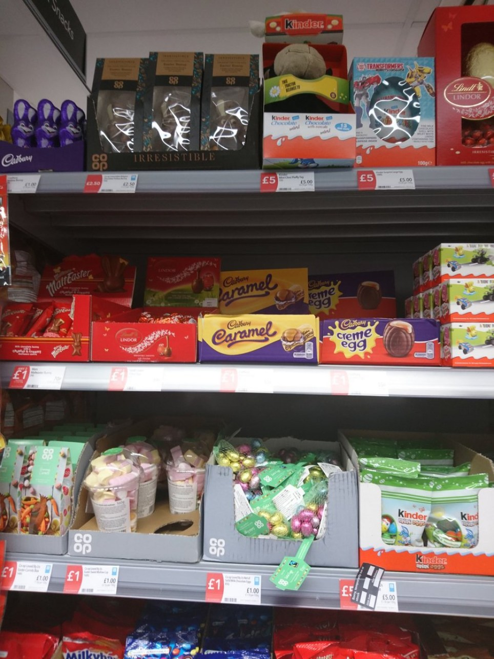 Easter has made an early appearance on shelves in Manchester (Picture: Twitter/TiredMummyofTwo)