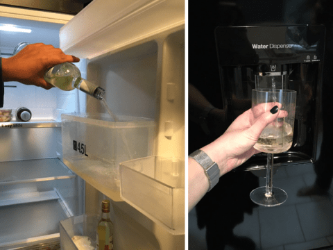 This woman turned her fridge into a cold wine dispenser and she's a genius