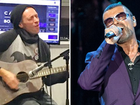 WATCH: Chris Martin pays tribute to George Michael by singing Last Christmas in a London homeless shelter