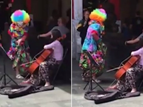 Clown gets in fight with little girl on street, gets called a 'f*ckhead'