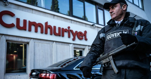 The Cumhuriyet newspaper is one the few who criticise the government (Picture: Ozan Kose/AFP/Getty)