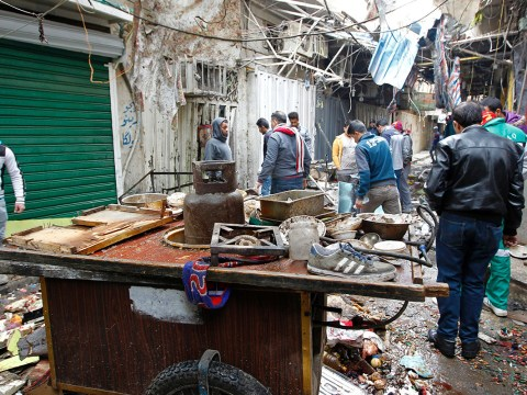 Double bombing kills 28 and injures 54 at Baghdad market
