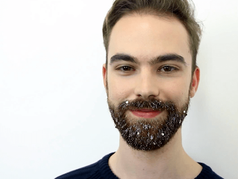 Embrace the festive party season with this glitter beard tutorial