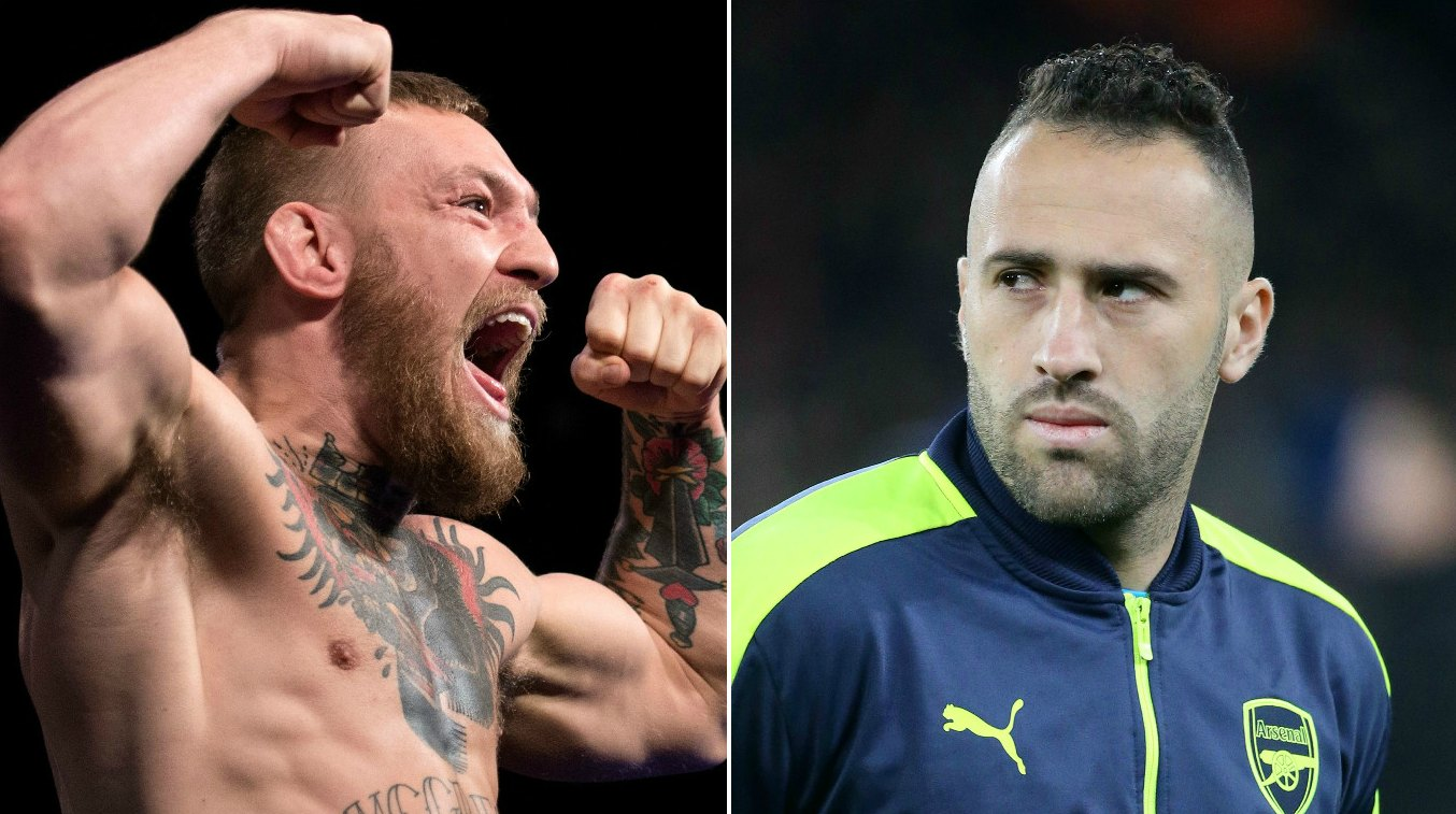 Arsenal goalkeeper David Ospina doesn't fancy his chances against Conor McGregor