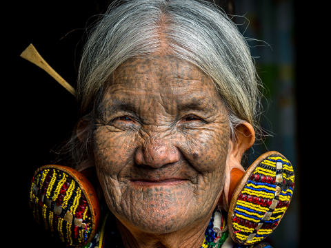 Incredible photos show the tattooed women of the Chin tribe