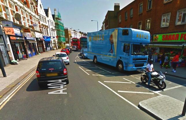 gunman in london Harlseden High Street, picture: google maps