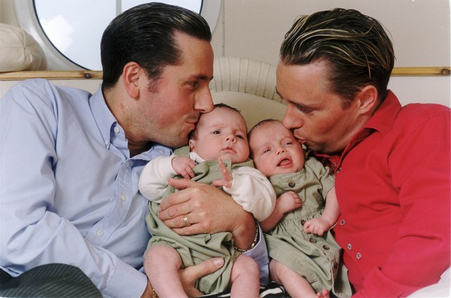 Mandatory Credit: Photo by Lynn Hilton/Mail On Sunday/REX/Shutterstock (2361627a) Gay Fathers Tony Barlow And Barrie Drewitt With Their Twins Aspen And Saffron. The Men Are Suing The Twins Surrogate Mother Rosalind Bellamy Over Financial Irregularities. Barrie And Tony Drewitt-barlow. Gay Fathers Tony Barlow And Barrie Drewitt With Their Twins Aspen And Saffron. The Men Are Suing The Twins Surrogate Mother Rosalind Bellamy Over Financial Irregularities. Barrie And Tony Drewitt-barlow.