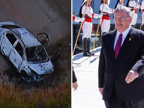 Body discovered in burned-out car is believed to be missing Greek ambassador to Brazil