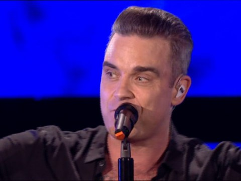 Robbie Williams was told by the BBC not to swear – so he made the audience do it instead