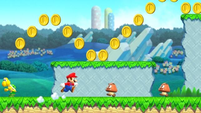 Super Mario Run (iOS) - it's a him, on smartphone