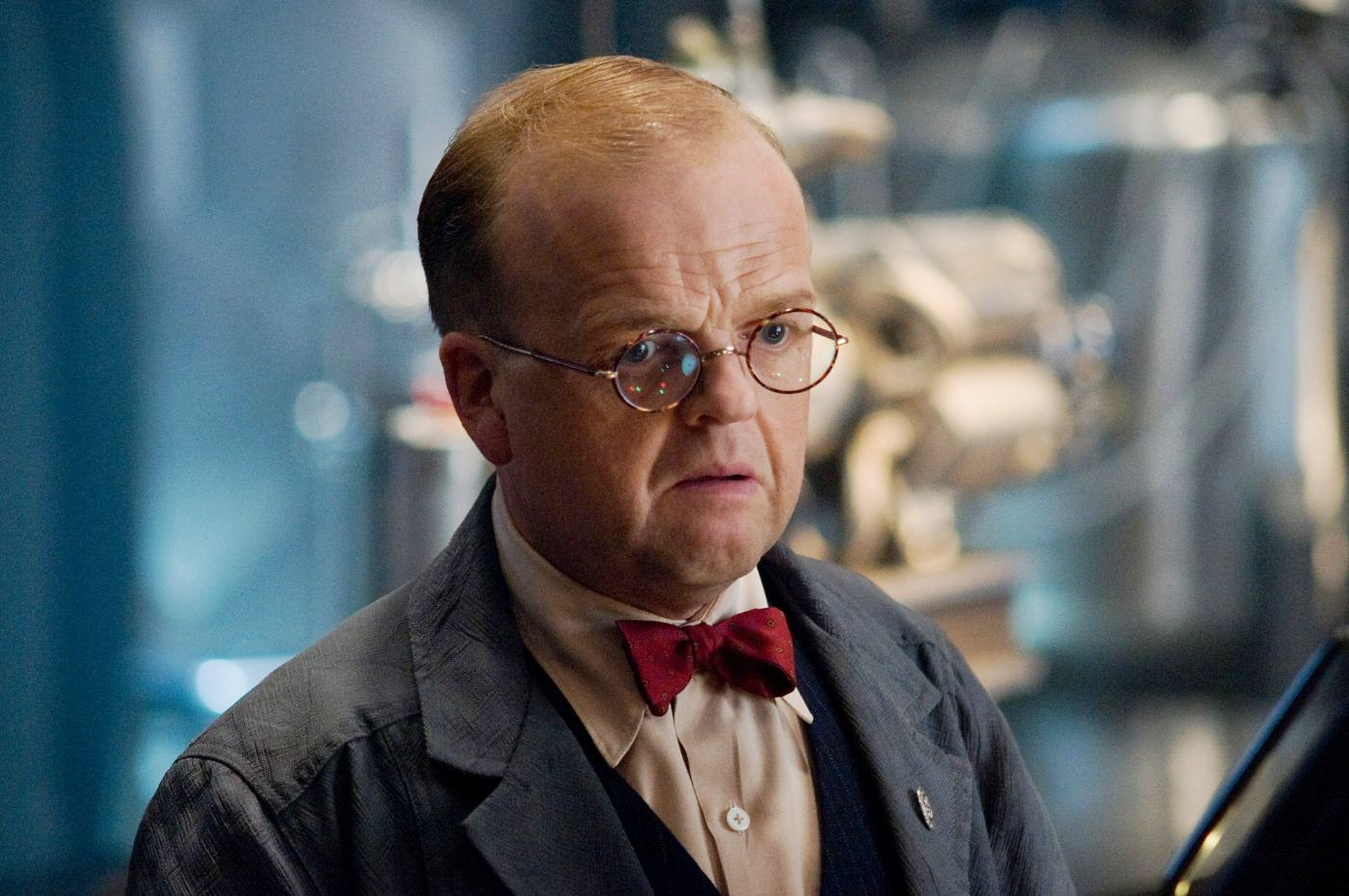 The Witness For The Prosecution star Toby Jones says superhero films will be MORE popular now Donald Trump's rocked up