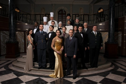 LEFT BANK PICTURES THE HALCYON EPISODE 1 Pictured : THE CAST. This photograph is (C) ITV Plc and can only be reproduced for editorial purposes directly in connection with the programme or event mentioned above. Once made available by ITV plc Picture Desk, this photograph can be reproduced once only up until the transmission [TX] date and no reproduction fee will be charged. Any subsequent usage may incur a fee. This photograph must not be manipulated [excluding basic cropping] in a manner which alters the visual appearance of the person photographed deemed detrimental or inappropriate by ITV plc Picture Desk. This photograph must not be syndicated to any other company, publication or website, or permanently archived, without the express written permission of ITV Plc Picture Desk. Full Terms and conditions are available on the website www.itvpictures.com For further information please contact: Patrick.smith@itv.com 0207 1573044
