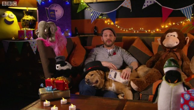 Tom Hardy on CBeebies (Picture: BBC)