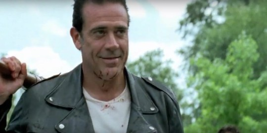 Negan had a shave for the mid-season finale of The Walking Dead (Picture: AMC/Fox)